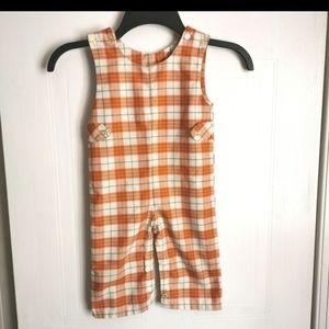 2/$35 Vintage/Handmade plaid Jumpsuit size 12-18 m